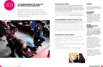 Brochure Ateliers Beaux-Arts de la Ville de Paris, 2012/2013