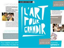 """Brochure """" L'Art pour grandir"""" DAC Mairie de Paris"""