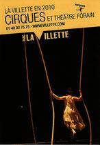 Carte de communication du parc de la Villette, cirques et théâtres forains 2010