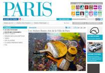 Les ateliers Beaux Arts de la Ville de Paris, page sur Paris.fr