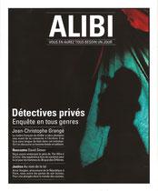 Couverture du magazine Alibi n°6, automne 2013.