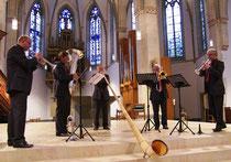 """International Brass spielen """"Concertino"""" für Alphorn und Blechbläserquartett von Wilhelm Junker"""