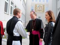 Pater Damian Lienhart OCist, Weihbischof Dr. Stefan Turnovsky und Direktorin Mag. Maria Konfeld