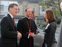 Fachinspektor Dr. Walter Ender, Weihbischof Dr. Stefan Turnovsky und Direktorin Mag. Maria Konfeld