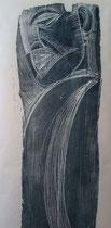 Figur, Holzschnitt (Ausschnitt), 50x250cm, 1997
