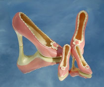 Schokoladen High Heels Pink