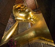 Der liegende Buddha im Watt Pho Tempel, Bangkok