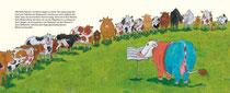 Die Kuh Gloria. Oetinger Verlag. Paul Maar / Tina Schulte | Tina Schulte Kinderbuch-Illustration