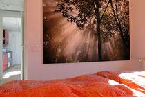 Schlafzimmer Ferienwohnung Valencia-  bei Sonnenaufgang