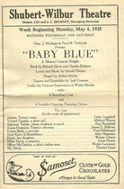 "Program for ""Baby Blue"" with Irene as ""Millie Davis"" (Thanks to Janine)"