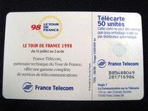 Carte Tour de France 1998 50u