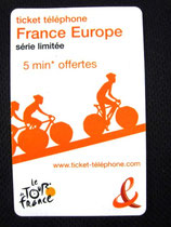 Ticket téléphone Tour de France 2008