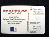 Carte Tour de France 2000 50u
