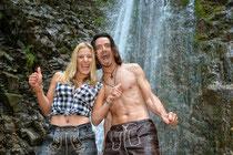 Ice Bucket Challenge Stefanie Hertel und Lanny Isis August 2014