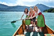Dreharbeiten Stefanie Hertel sowie Sigrid und Marina am Wolfgangsee Juli 2014