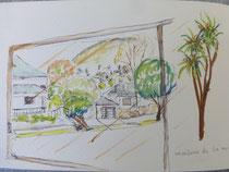 Vue sur Auckland - aquarelle de Joelle