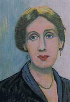 Virginia Woolf, Öl/Papier 42x29,7 cm, 2008
