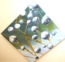 Wassertropfen, Öl auf Leinwand, 90/90 cm, Barbara Rank, 300 Euro