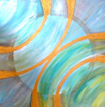 Öl auf Leinwand, 90/90 cm, Vivian Wieling, 390 Euro