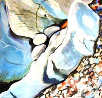 Steine, Öl auf Leinwand, 90/90 cm, Barbara Rank, 300 Euro