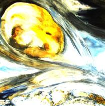 Bachlauf, Öl auf Leinwand, 90/90 cm, Barbara Rank, 300 Euro