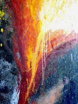 Vulkan, Öl auf Leinwand mit Struktur als action-painting, 100/145cm , Vivian Wieling, 690 Euro