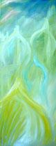 Komposition verde I, Öl auf Leinwand, / 90/150 cm, Vivian Wieling, 690 Euro