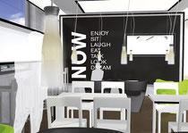 Entwürfe für eine Café-Kette