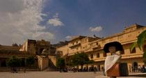 Goethe besucht das Amber Fort, bei Jaipur, Rajasthan / Indien