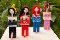Flaschenverschlußfigur: Alle Frauen