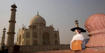 Reisegoethe besucht das Taj Mahal, Indien