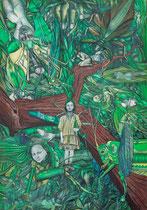 SYRINX Öl auf Leinwand - 100 x 70 cm