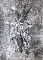RONDLEIDINGEN, Graphit auf Papier - 70 x 50 cm