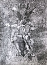 RONDLEIDINGEN Graphit auf Papier - 70 x 50 cm