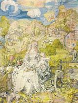 Дюрер Мадонна с животными 1642