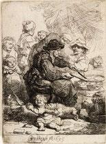 The Pancake Women  Rembrandt 1635.