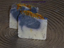 "Handgesiedete Seife: ""Lavendel-Vanille mit Ringelblume"""