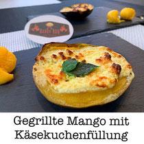 Gegrillte Mango mit Käsekuchenfüllung
