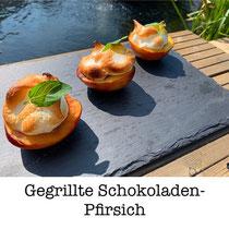 Gegrillte Schokoladen-Pfirsich