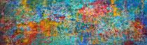 Titel: Onrust Materiaal: Acryl Afmeting: 120cm x 40cm