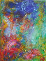 Titel: Herfstkleuren Materiaal: Acryl Afmeting: 30cm x 40cm