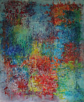 Titel: Ingewikkeld Materiaal: Acryl Afmeting: 100cm x 120cm