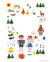 2019 小学生の生活日記 表紙イラスト