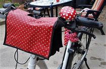 feewerk, Lenkertasche, Fahrradtasche, Hollandrad, Fahrrad, Punkte, E-Bike, Rot gepunktet