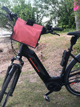 feewerk, Lenkertasche, Fahrradtasche, Hollandrad, Fahrrad, E-Bike, Rot gepunktet