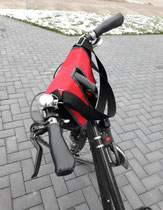feewerk, Lenkertasche, Fahrradtasche, Hollandrad, Fahrrad, Fahrradlenker, terrakotta