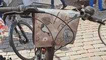 feewerk, Lenkertasche, Fahrradtasche, Hollandrad, Fahrrad, Grau, Vogel