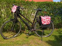 feewerk, Lenkertasche, Fahrradtasche, Hollandrad, Fahrrad, Blumen