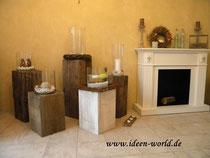 Deko Holz-Säulen