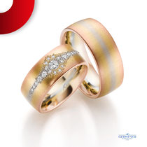 Eheringe by Trauringlounge I Gefertigt in Gold I 21 Brillanten 0,286 ct I Gerstner